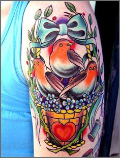 Josh McAlear beautiful colorful tattoo (There's just something very endearing about this 1!!)