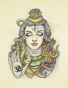 My original Painting of Shiva. Shiva Hindu, Shiva Art, Shiva Shakti, Krishna Art, Hindu Deities, Hindu Art, Lord Shiva Sketch, Shiva Tattoo Design, Lord Shiva Hd Images