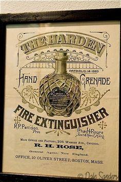 The Harden Hand Grenade Fire Extinguisher Advertisement