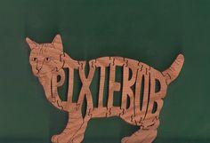 Pixie-bob Cat Wood Puzzle Cut On Scroll Saw