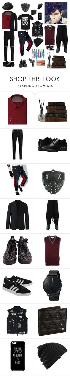 """Marcus"" by kinankirtash04 on Polyvore featuring Calvin Klein, Stacy Adams, Happiness, Masquerade, Emporio Armani, Thom Krom, Christian Louboutin, Gucci, adidas Originals and Skagen"