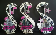 Music Notes center piece Ideas | Musing with Marlyss: Jazz, Hip Hop, Rock n Roll Music Centerpieces