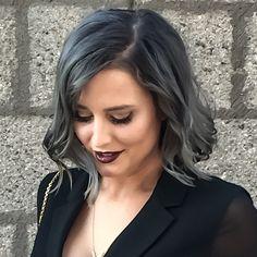 Grey hair color.