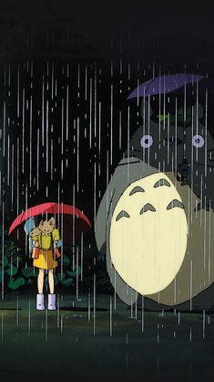 My Neighbor Totoro Art Illust Rain Anime #iPhone #5s #wallpaper