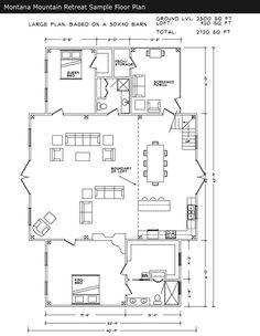 Sample floor plan for Barn