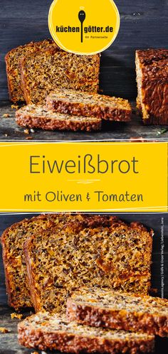Italienisches Eiweißbrot Great recipe for aromatic protein bread with dried tomatoes, olives, almonds and herbs. Low Carb Focaccia BreadLow Carb Quark Bread with PaCollagen Keto Bread Protein Bread, Healthy Protein, Protein Foods, Olives, Vegetarian Recipes, Healthy Recipes, Italy Food, Dried Tomatoes, Superfood