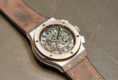 """The highly exclusive Hublot Aerofusion Chronograph Special Edition """"The Rake"""" marries classicism and contemporary aesthetics and will launch in September Chronograph, Product Launch, Watches, Cigars, Contemporary, Modern, Caption, Classic, Aesthetics"""