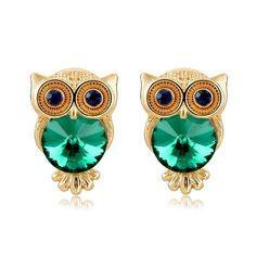 Crystal Owl Green Glamorous Earrings //Price: $14.85 & FREE Shipping //     #jewelry #jewels #jewel #socialenvy #PleaseForgiveMe #fashion #gems #gem #gemstone #bling #stones #stone #trendy #accessories #love #crystals #beautiful #ootd #style #fashionista #accessory #instajewelry #stylish #cute #jewelrygram #fashionjewelry