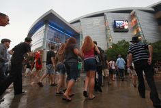 The Time Warner Cable Arena, home for the Charlotte Bobcats NBA team, hosts a Roger Waters concert on July 10, 2012 in Charlotte, North Carolina. The 2012 Democratic National Convention will be held at the arena September 3-6.