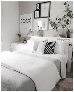 Bedroom decor - So ta aq por causa da cama cottagebedroom Room Ideas Bedroom, Home Decor Bedroom, Modern Bedroom, Contemporary Bedroom, Nursery Ideas, Master Bedroom, Ikea Bedroom, Bedroom Furniture, Marble Bedroom