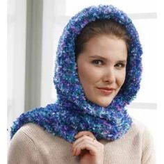 Mary Maxim - Free Hooded Scarf Wrap Knit Pattern - Free Patterns - Patterns & Books