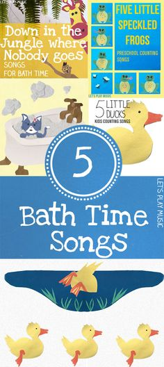 5 Adorable Bath Time Songs to Sing with your kids! Round up from Let's Play Music Preschool Songs, Music Activities, Kids Songs, Infant Activities, Activities For Kids, Sensory Activities, Sensory Play, Preschool Crafts, Lets Play Music