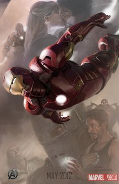 Iron Man concept art for The Avengers.