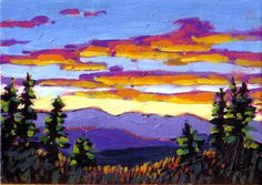 Sunset over the Foothills, 2006