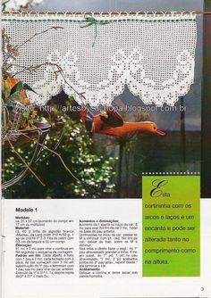 Artes by Cachopa - Croche & Trico: Croche - Cortinas