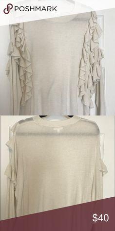 BP. Ruffle lightweight sweater size medium Bp. Ruffle lightweight sweater. Runs large. Size medium. bp Sweaters Crew & Scoop Necks