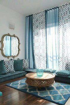 Blue/Golden living room