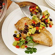 Enjoy zesty sauteed chicken and black bean salsa. With Perdue Fit