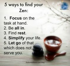Zen habits-need to tape to my forehead or write on the palm of my hand :)