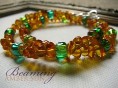 Amber Teething Necklace with Sea Green by BeamingAmberSunLLC, $19.00