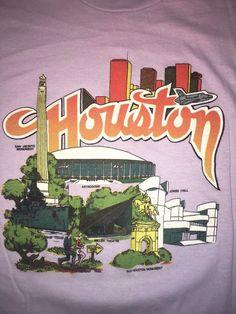 Vintage 80's Houston Texas T Shirt L RP Sportswear Astrodome Jones Hall Miller  #RPSportwear #GraphicTee