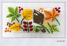 Our version of another artist's work on this fused glass Fall platter Paint Your Own Pottery, Pottery Painting, Artist At Work, Platter, Fused Glass, Mosaic, Fall, Drinkware, Autumn