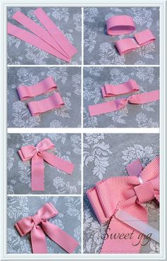 Baby Girl Headband, Faux Suede Bow Clips or Headband, Baby Bow Clip, Girl Bows Ribbon Hair Bows, Diy Hair Bows, Diy Bow, Diy Ribbon, Bow Hair Clips, Ribbon Crafts, Blue Ribbon, Handmade Hair Bows, Bow Clip