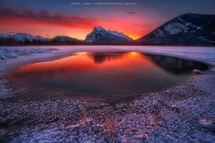 Vermilion Lake in Winter by Carl Pan