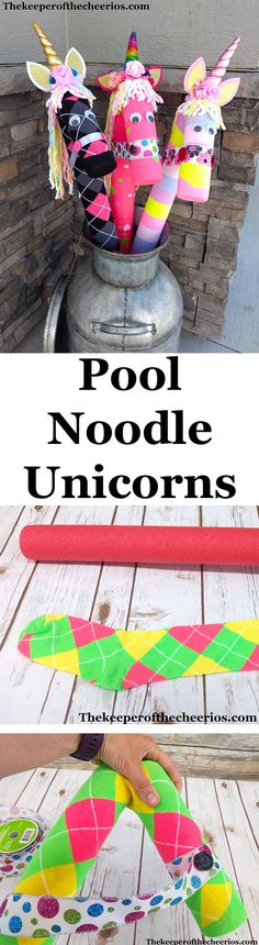 Pool Noodle Stick Horse & Pool Noodle Unicorns ...... pool noodle craft, pool noodle horse, pool noodle unicorn, unicorn craft, unicorn party, horse party