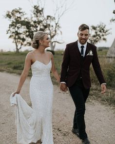 Claire + Jake | A sneak peek of her wearing The Lottie gown!! Photography by @lightandtype  | Follow us @kwhbridal