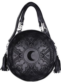 Sac à Main Gothique Boho Witch Magic Mystic Henna Moon Lune