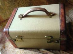 Vintage Train Case Cosmetic Bag 1950's by CircaPasse on Etsy