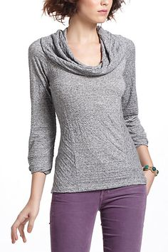 Yorkshire Cowlneck in Grey (soo cute, but note, it's polyester) | Anthropologie.com
