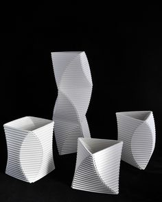 ARTS THREAD - Keith Varney - Corrugated paper clay vessels