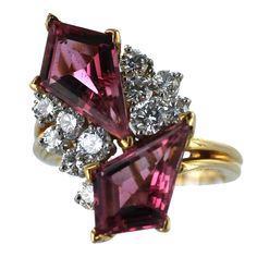 Oscar Heyman Pink Tourmaline and Diamond Ring