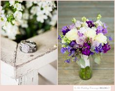White and purple wedding bouquet / Joel and Amber Wedding Photography / see more on thewedding-concierge.com