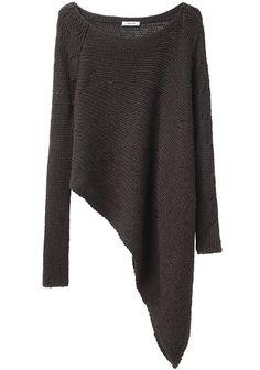 HELMUT LANG | Asymmetric Hem Pullover | Shop at La Garçonne