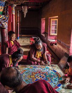 Tibet Mandala - Sand Painting