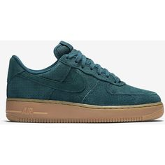 Nike Air Force 1 07 Suede Women's Shoe. Nike.com ($95) ❤ liked on Polyvore featuring shoes, suede leather shoes, nike, nike footwear, nike shoes and suede shoes