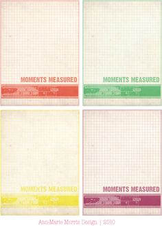 Free Moments Measured Journal Cards from Ann Marie Loves Paper