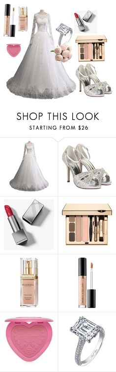 """Wedding day"" by percabeth0712 ❤ liked on Polyvore featuring Rainbow Club, Burberry, Elizabeth Arden and Too Faced Cosmetics"