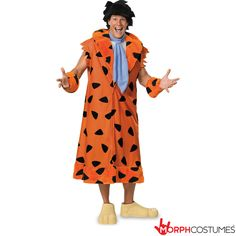 Couples Costume Inspiration: Do you want one of these Flintstones Fred Flintstone Deluxe Costumes? What's that? You YABBA DABBA DOO???!?! Great, because we've got it.