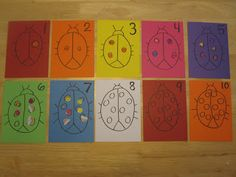 Ladybug number activity.  Only need colored paper, stickers, marker.