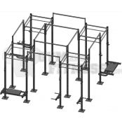 Crossfit Revolution Rack - 4x Chamber 8x Overpass  PLEASE CONTACT US ON 1 800 614 491 FOR BULK PRICING AS IT WILL VARY BASED ON YOUR INDIVIDUAL REQUIREMENTS!!    Product Specifications:  - Includes 16x Uprights - Includes 16x Short Chin Up Bars - Includes 8x Overpasses (up to 3.2m high... perfect for muscle ups)   For more info visit: http://www.gymandfitness.com.au/crossfit-revolution-rack-quad-chamber.html
