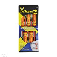 - CK Tools Triton XLS Insulated Screwdriver Set of 5 with Slotted Parallel, and Screwdrivers