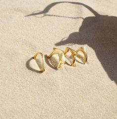 Gold rings by Elisha Francis - Modern tribal jewellery - Contemporary stacking rings Bohemian Jewellery, Tribal Jewelry, Gold Jewelry, Fashion Accessories, Fashion Jewelry, Stacking Rings, Ring Designs, Decor Styles, Heart Ring