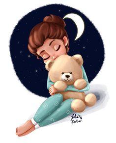 Sweet Goodnight by LolieFeather on DeviantArt Cartoon Gifs, Cute Cartoon Wallpapers, Cartoon Art, Cute Cartoon Pictures, Cute Cartoon Girl, My Cute Love, Mode Poster, Cute Minions, Cute Girl Wallpaper