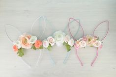 DIY floral bunny headband how to by The Creative Copycat