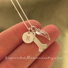 In Memory of a dog Necklace TINY  death of a by ImprintedMemories