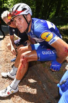 Philippe Gilbert of Belgium and Team QuickStep Floors   Crash   Injury    during the Tour de France 2018 Stage 16 a stage from Carcassonne. 8301bc2ed